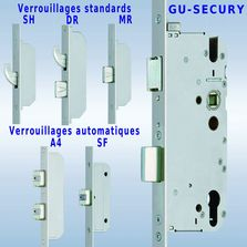 Serrures multipoints à verrouillage à la clé ou automatique | Serrures multipoints GU-SECURY