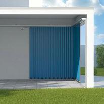 Porte coulissante isol e en acier cassette ou nervures for Porte de garage novoside