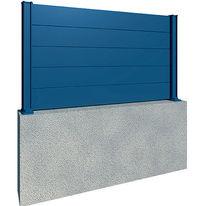 Palissade à lames larges en aluminium Design