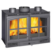 Insert bois 12 kW de style traditionnel avec double porte | VERMEIL 80 DP HPE TURBO C07884