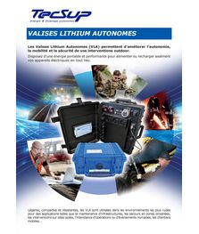 Catalogue valises d'énergie autonomes TECSUP