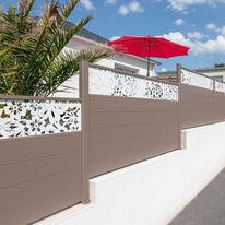 Portail, clôture, garde-corps aluminium avec décor personnalisé  | Brodiri