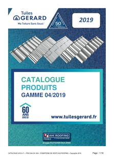 Catalogue CATALOGUE Les Tuiles GERARD Couvreurs Charpentiers 2019