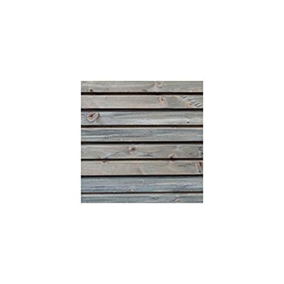 Bardage en bois massif d 39 aspect claire voie gris par for Bardage bois faux claire voie