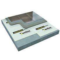 isolation acoustique sous carrelage de 10 mm d 39 paisseur acoustic weber. Black Bedroom Furniture Sets. Home Design Ideas