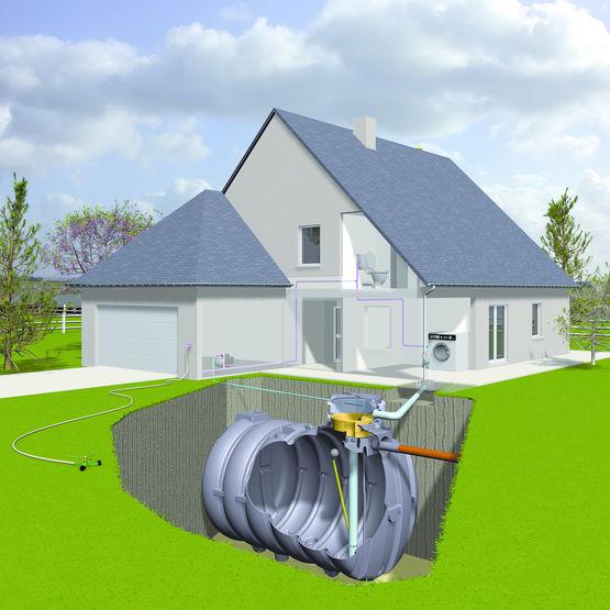 cuve enterrer pour r cup ration des eaux pluviales simop. Black Bedroom Furniture Sets. Home Design Ideas