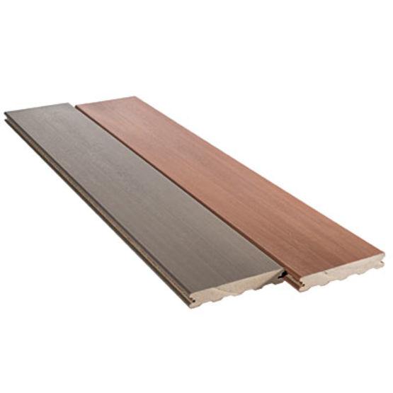 Lame de terrasse en bois composite coextrud en deux coloris silvadec - Prix lame terrasse composite silvadec ...