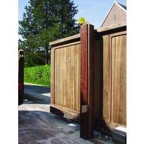 portails en bois sur cadre en aluminium portail bois kostum groupe cadiou. Black Bedroom Furniture Sets. Home Design Ideas