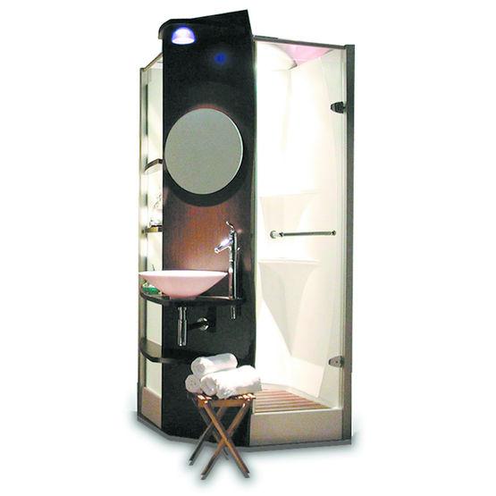 cabine de douche avec vasque et rangements int gr s altor industrie. Black Bedroom Furniture Sets. Home Design Ideas