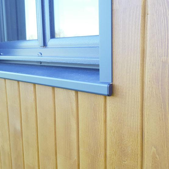 Pr cadre en aluminium pour maisons ossature bois for Joint metallique fenetre