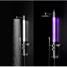 Colonne de douche avec fontion hydromassage produits du btp - Colonne de douche lumineuse ...
