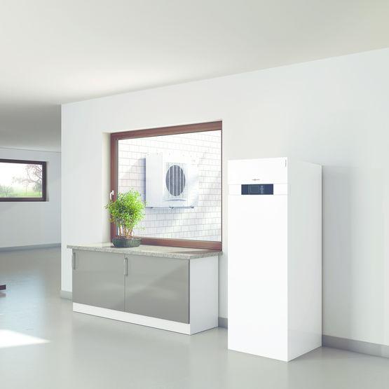 pompe chaleur air eau split compacte viessmann. Black Bedroom Furniture Sets. Home Design Ideas