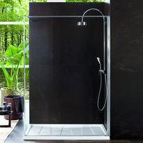 paroi de douche fixe avec stabilisateur mural cada xs walk in rothalux. Black Bedroom Furniture Sets. Home Design Ideas