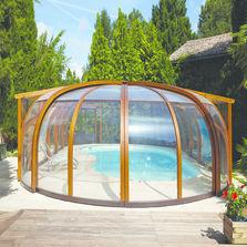 Accessoires de piscine produits du btp - Abri piscine bois lamelle colle ...