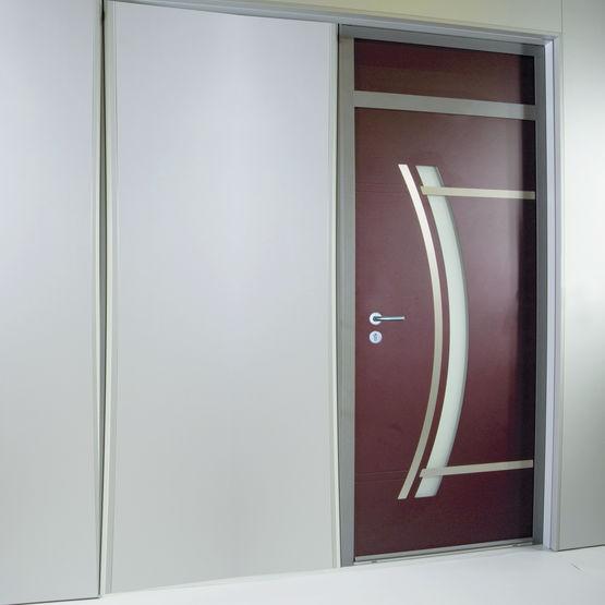 Porte d 39 entr e aluminium haute isolation thermique sch co for Isolation porte d entree
