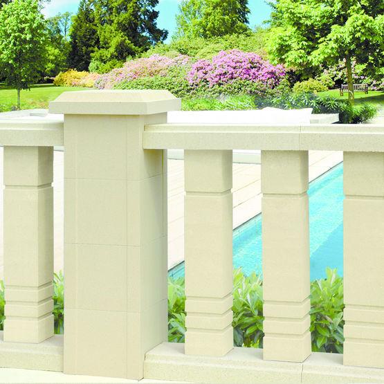 Balustre aspect pierre pour terrasse ou balcon weser - Balustre bois pour terrasse ...