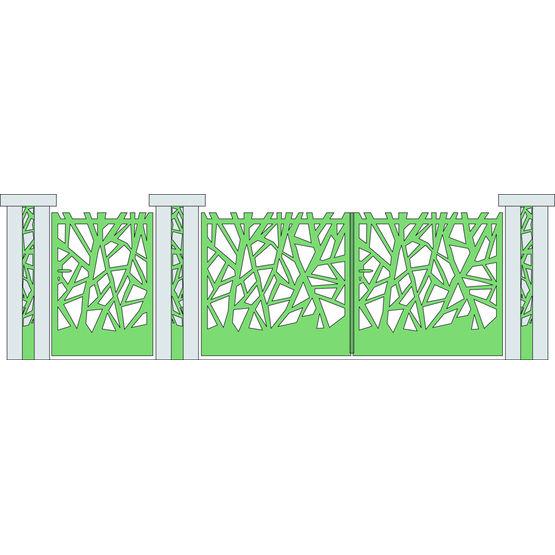 portail aluminium motifs branches d 39 arbre cadiou industrie. Black Bedroom Furniture Sets. Home Design Ideas