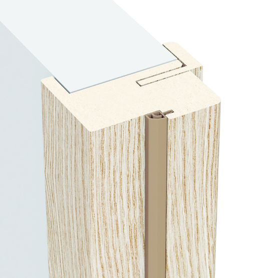 Huisserie de porte m lamin e pour pose sur cloisons finies for Bati de porte en bois
