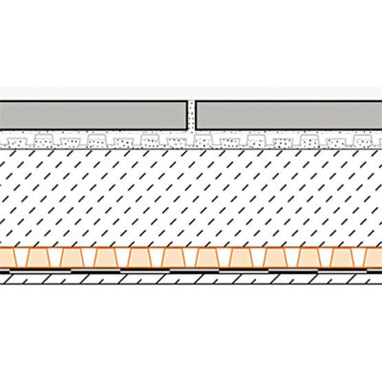 Natte de drainage pour balcons et terrasses pose scell e for Produit d etancheite pour terrasse