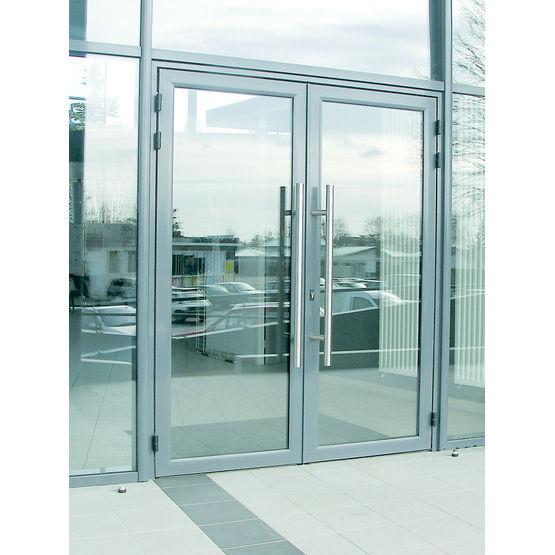 Porte d 39 entr e en aluminium pour hall d 39 immeuble alu for Entree pour recevoir