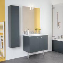 Meuble vasque en quatre longueurs avec miroir et applique LED | TEO Portes