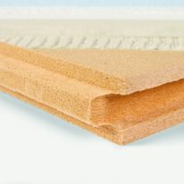Panneau isolant vertical grand format en fibre de bois support d'enduit | Gutex Thermowall NF