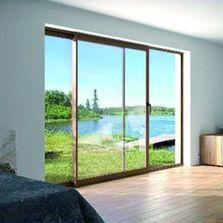 Baie coulissante ou galandage produits du btp - Baie vitree 6 metres ...