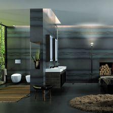 Meuble vasque pour salle de bain produits du btp for Grande vasque de salle de bain keramag design citterio