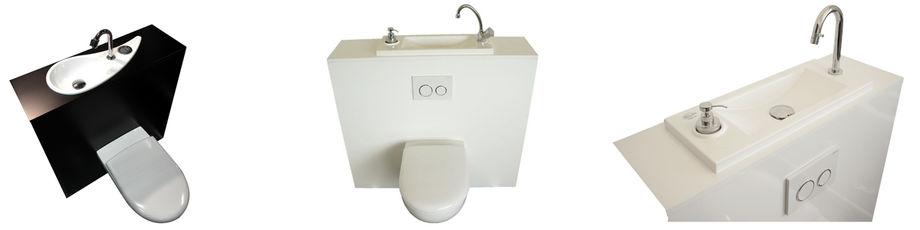 wc avec lave mains int gr une solution astucieuse aux multiples avantages. Black Bedroom Furniture Sets. Home Design Ideas