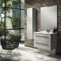 Meuble salle de bain 2 tiroirs avec poignées ou prises de main | Infiniti 2 tiroirs