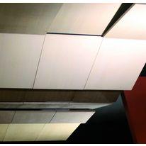 Dalle de plafond acoustique microperfor e microsound for Tuile de plafond suspendu