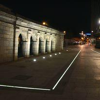 Caniveaux urbains à éclairage led intégré | ACO Chemins Lumineux