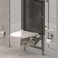 Bâti sous vide pour toilettes gravitaires | Vacuconvert Evac