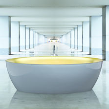Baignoire en plasticryl bicolore | Dip Vip Bicoulour Gold and Grey