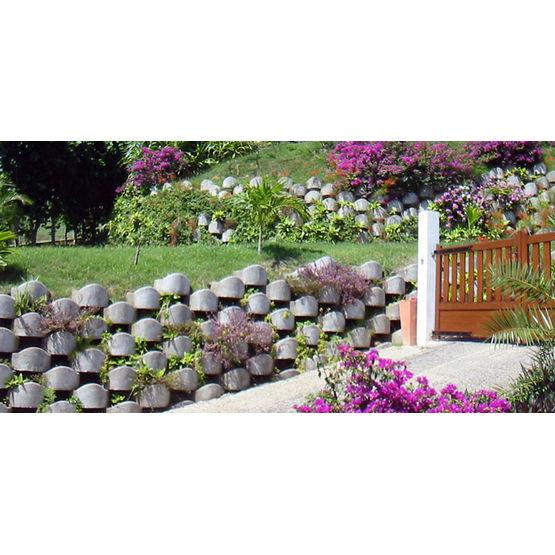 Blocs b ton pour r alisation de murs paysag s jusqu 39 4 m tres de hauteur atalus - Muret floral de soutenement ...