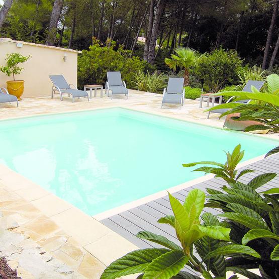 Piscine en panneau acier laqu dujardin piscines for Panneau piscine