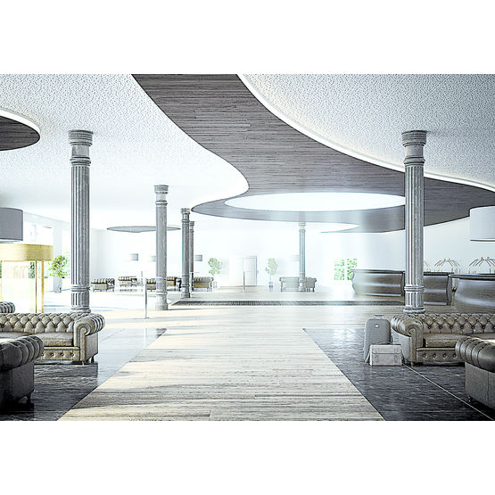 Consulter sur Batiproduits le détail : Plafond acoustique démontable en dalles de plâtre perforées