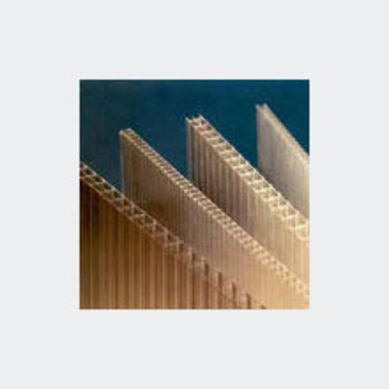 Plaques planes alv olaires en polycarbonate pour verri res et v randas onduline - Plaque polycarbonate 10mm ...