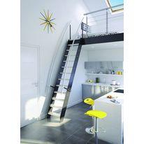 Escalier deux quart tournant en bois sans contremarche deux quart tournant - Escalier faible encombrement ...