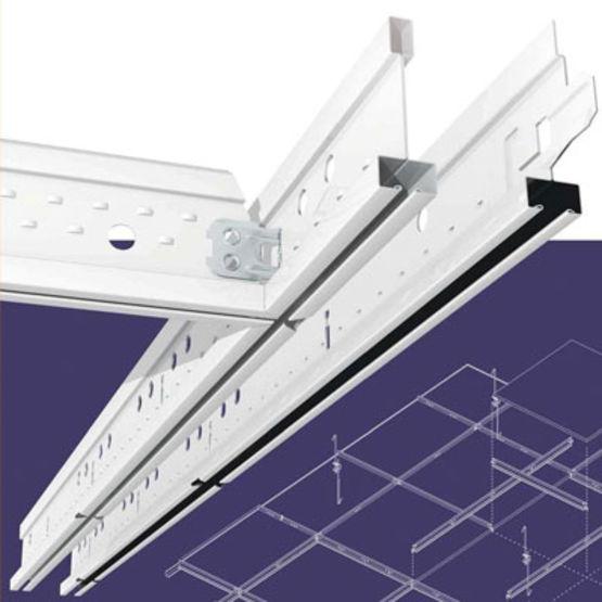 Syst me d 39 ossatures en acier pour plafond suspendu armstrong for Devis plafond suspendu
