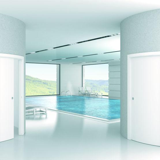 ch ssis de porte pour cloison courbe eclisse. Black Bedroom Furniture Sets. Home Design Ideas