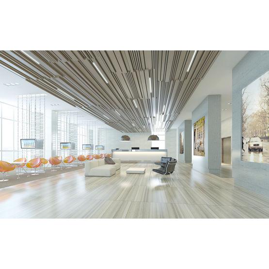 plafond modulaire acoustique en lames d aluminium hunter douglas produits architecturaux france. Black Bedroom Furniture Sets. Home Design Ideas