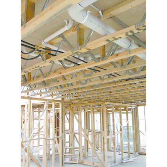 Solive mixte bois m tal connecteurs en v wolf connexion for Espacement solive plancher bois