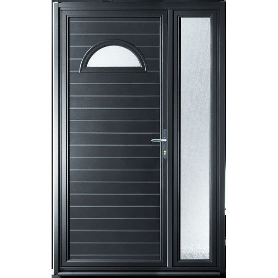 Porte d 39 entr e simple ou double vantaux pour passage for Double porte entree