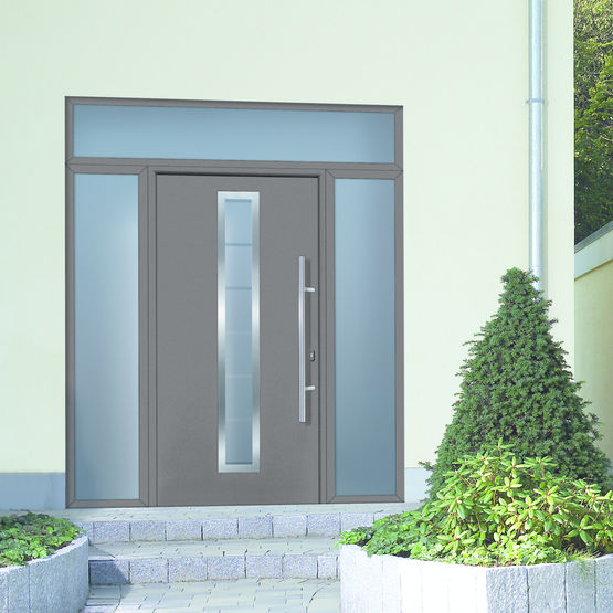 Porte d 39 entr e en acier h rmann for Porte and integrati