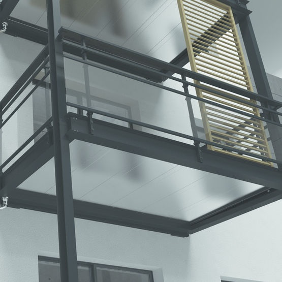 balcon en aluminium bugal. Black Bedroom Furniture Sets. Home Design Ideas