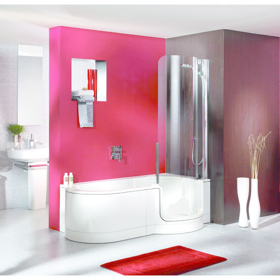 baignoire avec porte vitr e affluence animation. Black Bedroom Furniture Sets. Home Design Ideas