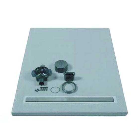 receveur de douche avec coulement lin aire int gr lazer. Black Bedroom Furniture Sets. Home Design Ideas